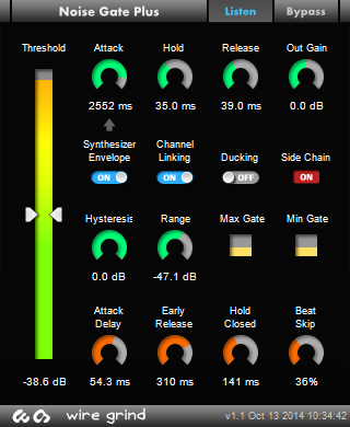 Kvr Noise Gate Plus By Wire Grind Noise Gate Vst Plugin