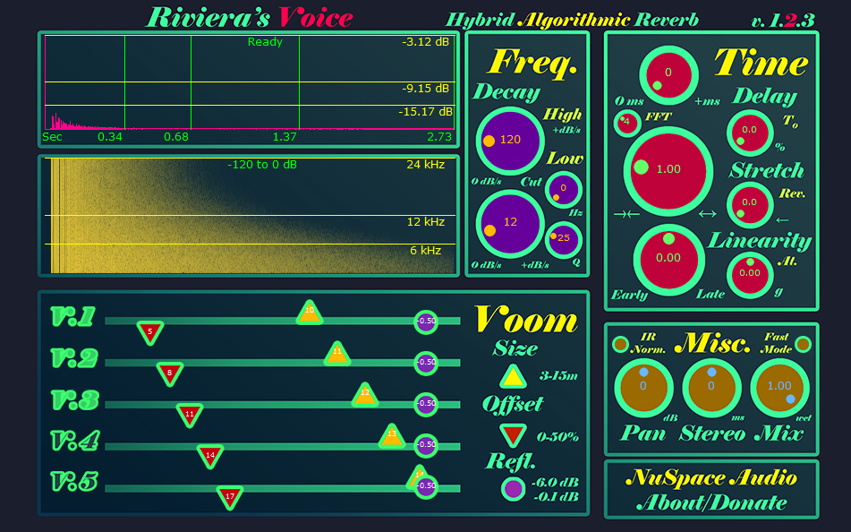 Riviera: Fast hybrid reverb plugin for modeling high-dimensional spaces