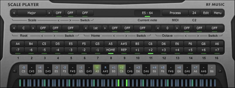 KVR: scale player by rf Music - MIDI Processor VST Plugin
