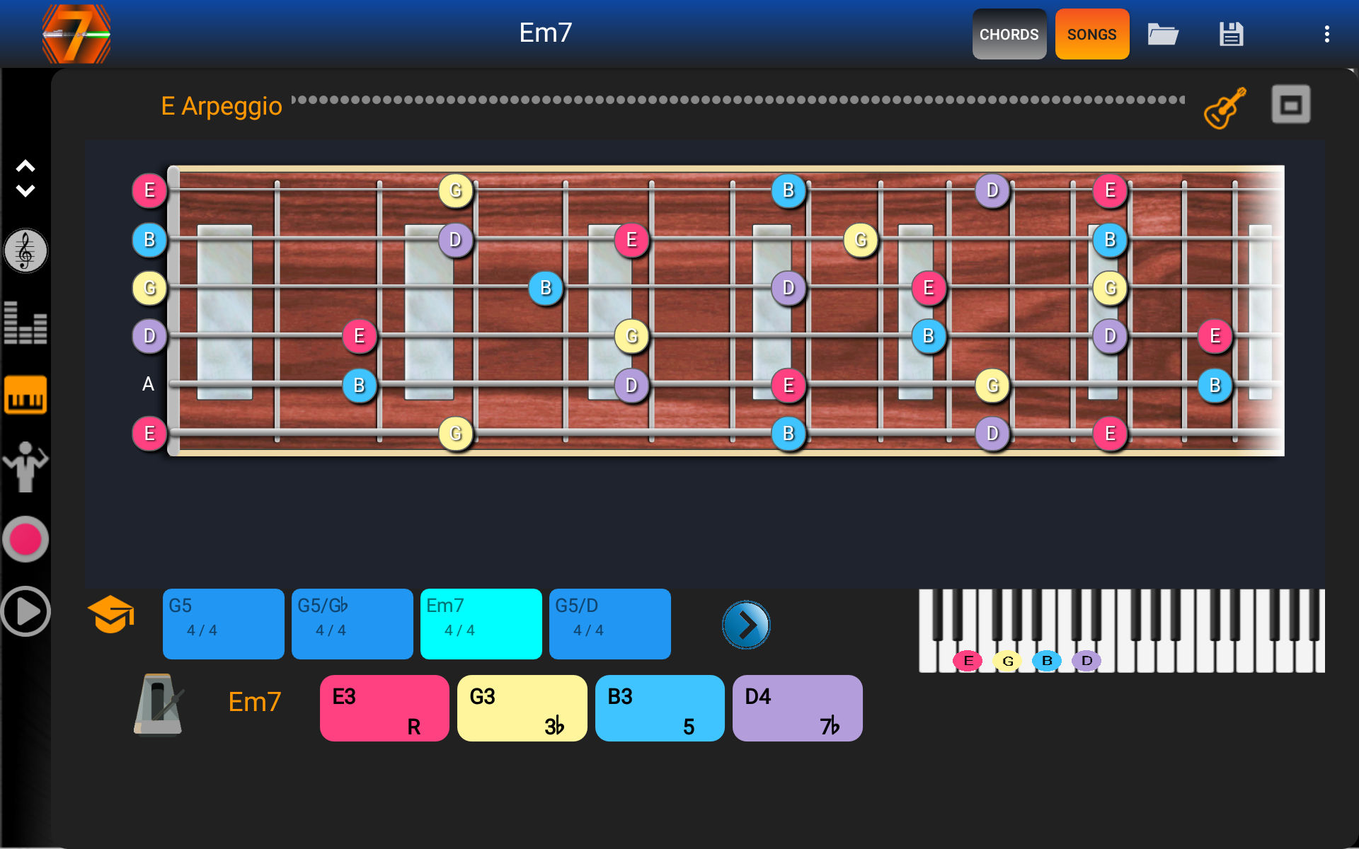 Kvr Mixtic Studio Updates 7pad Scales And Chords For Android To V201