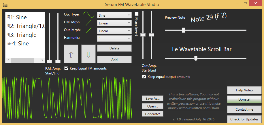 Serum FM Wavetable Studio