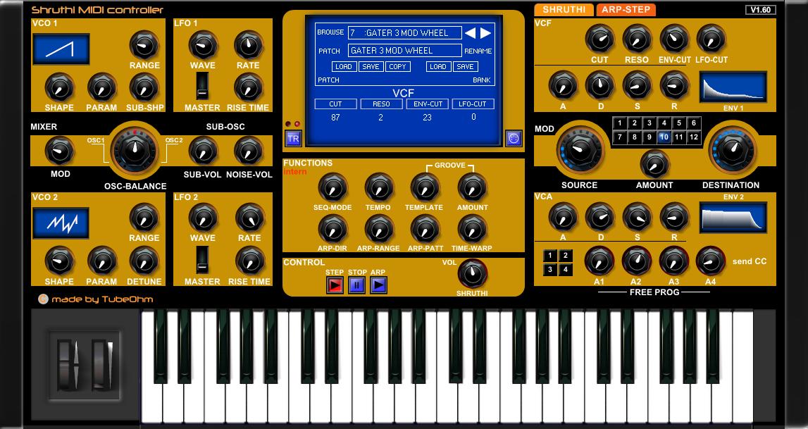 KVR: Shruthi MIDI Controller by TubeOhm - MIDI Controller