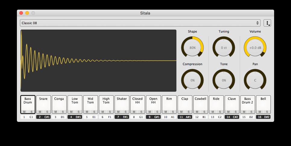 KVR: Sitala by Decomposer - Drum Sampler VST Plugin, Audio Units
