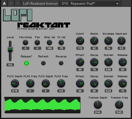 KVR: Bitley releases Lo-Fi Reaktant for Reaktor
