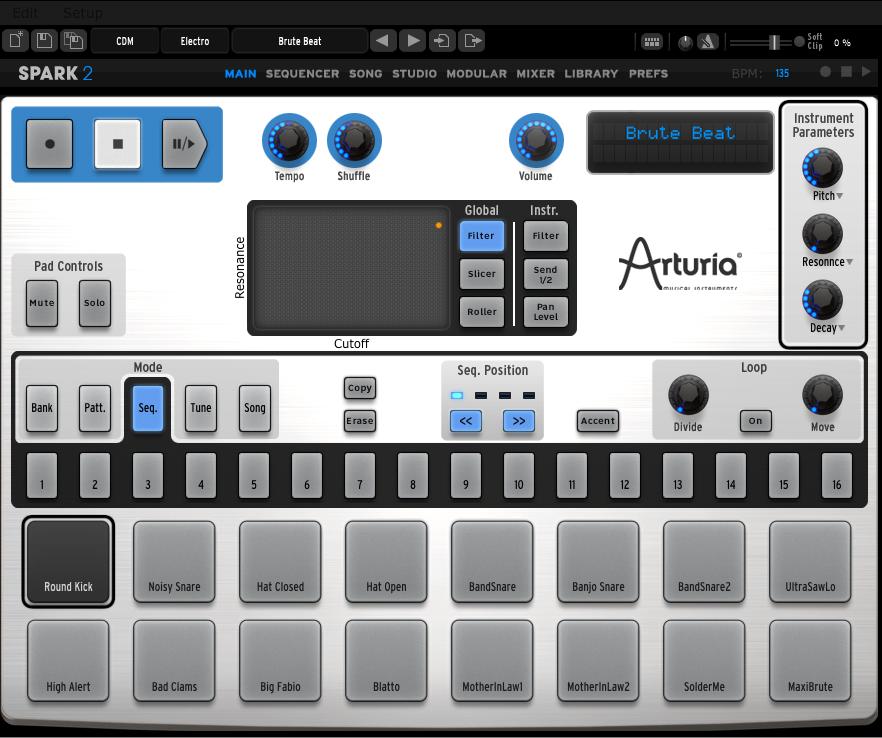 kvr arturia releases spark 2 drum machine software. Black Bedroom Furniture Sets. Home Design Ideas