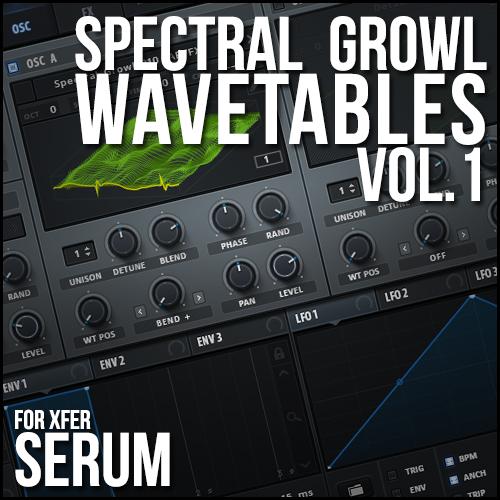 Spectral Growl Wavetables for Xfer Serum