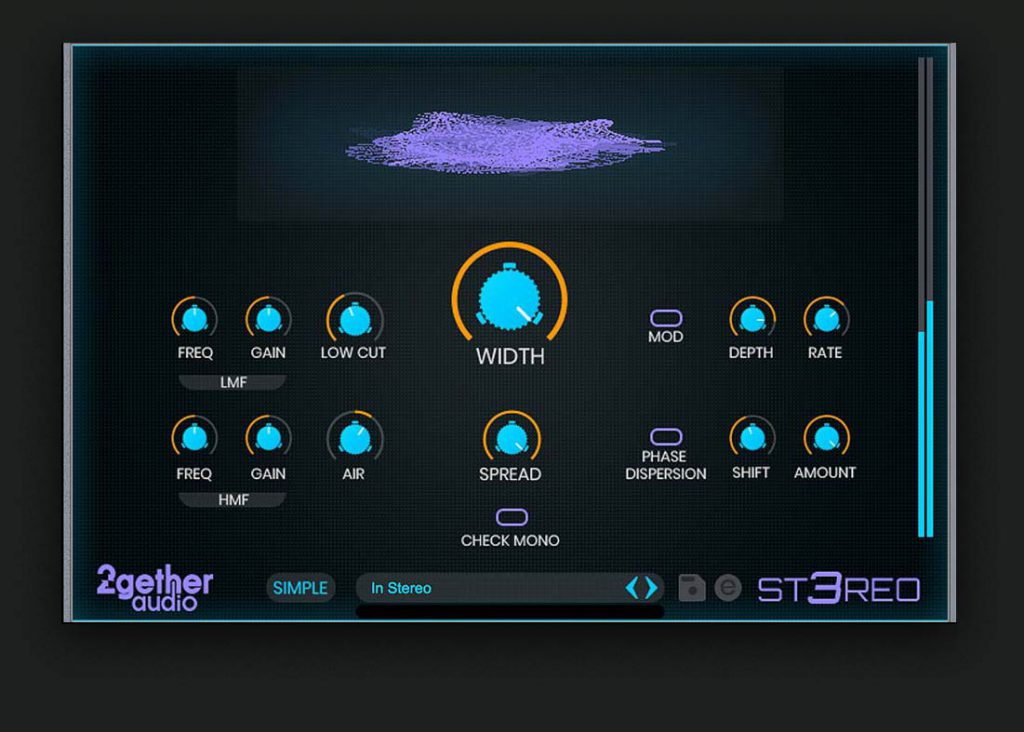 KVR: 2getheraudio releases ST3REO - Software tool for enhancing