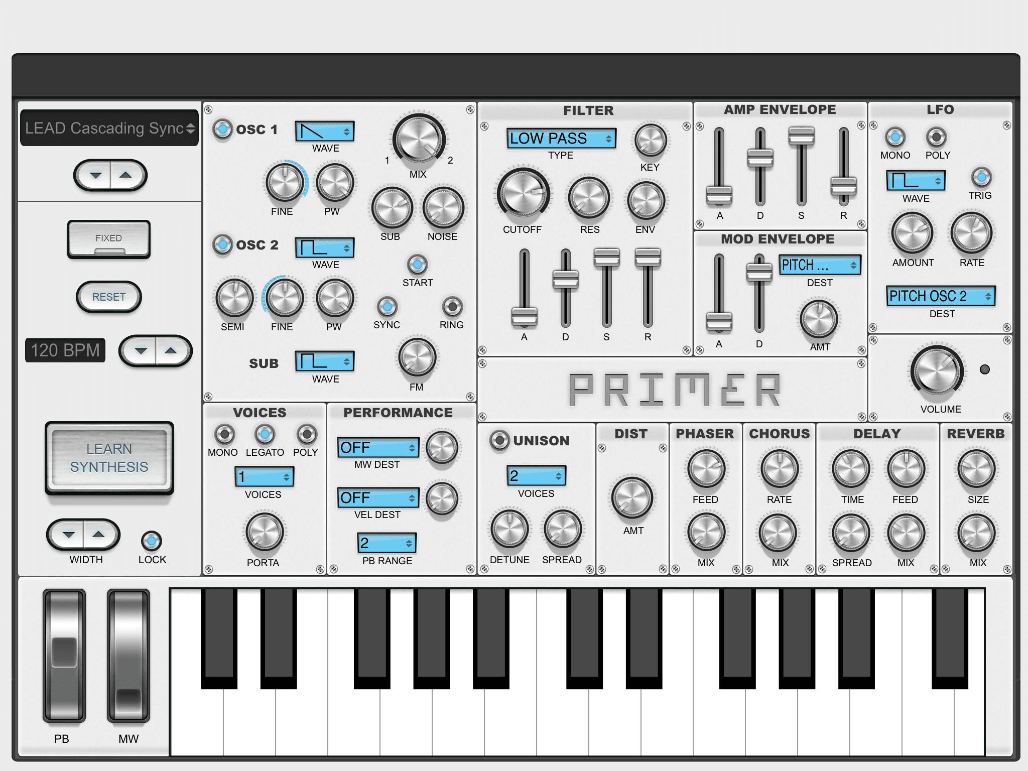 KVR: Primer by Audible Genius - Synth VST Plugin, Audio Units Plugin