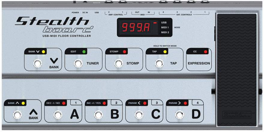 KVR: IK Multimedia announces StealthBoard - USB/MIDI Pedal Board
