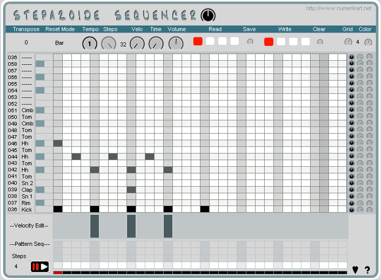 kvr stepazoide sequencer by numerikart step sequencer vst plugin. Black Bedroom Furniture Sets. Home Design Ideas