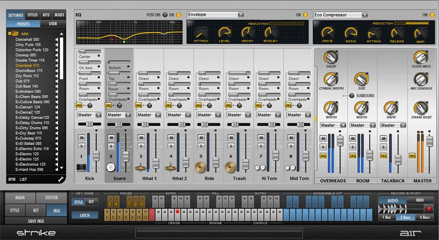 kvr strike by air music technology drum machine vst plugin audio units plugin rtas plugin. Black Bedroom Furniture Sets. Home Design Ideas