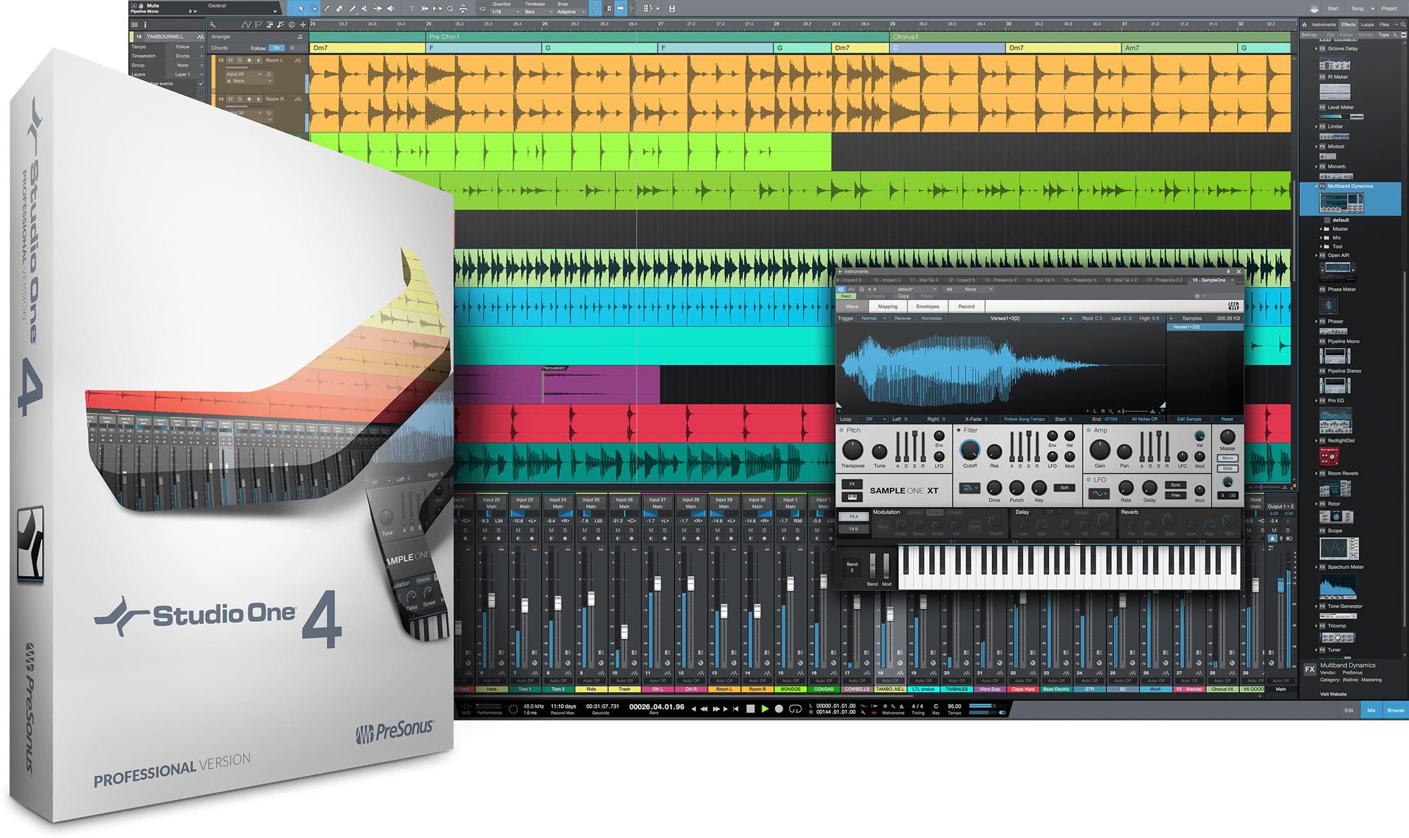 KVR: PreSonus releases Studio One 4