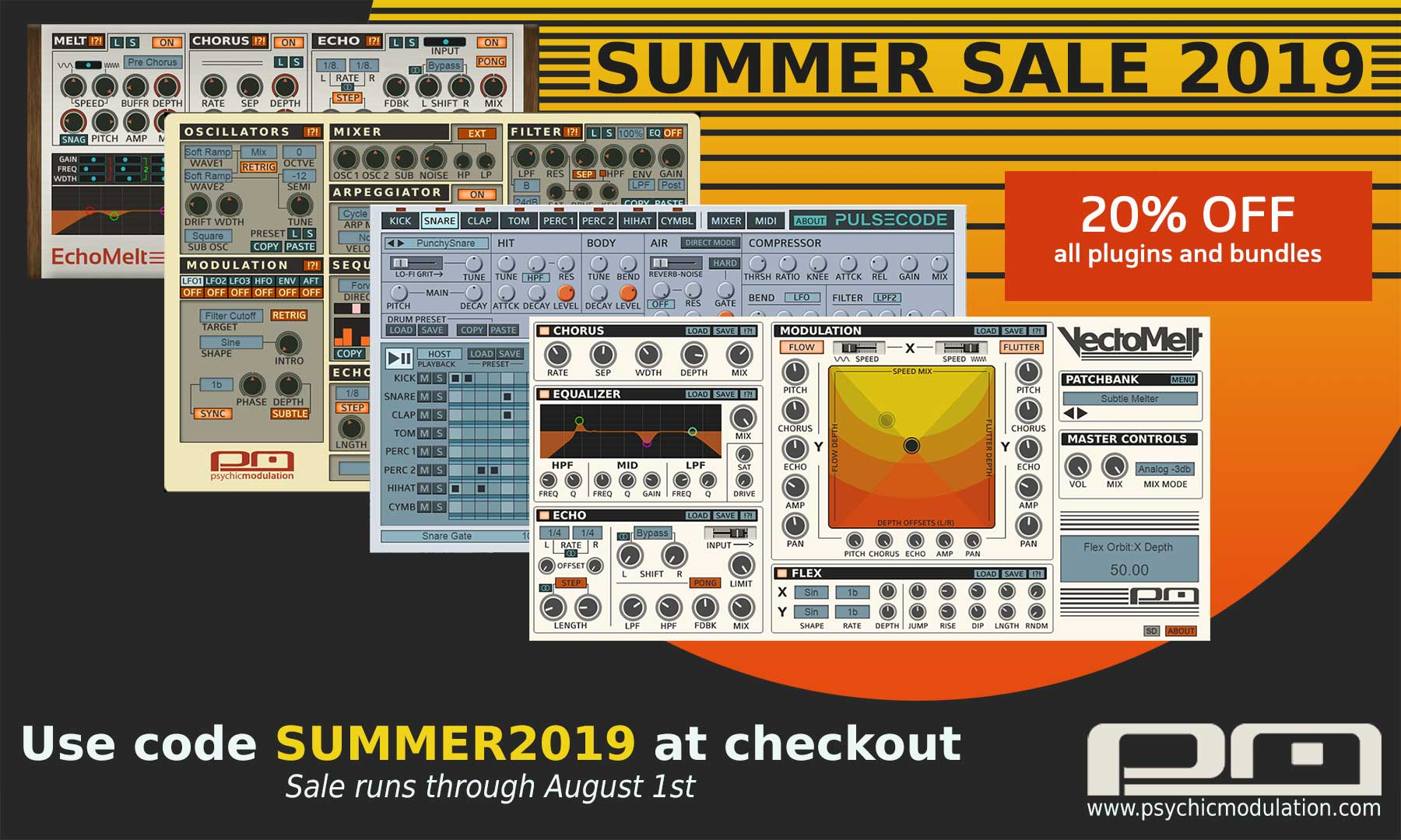 KVR: #KVRDeal Psychic Modulation Summer Sale: 20% off all plugins