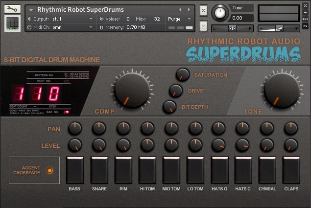 kvr buy rhythmic robot superdrums at the kvr marketplace drum machine. Black Bedroom Furniture Sets. Home Design Ideas