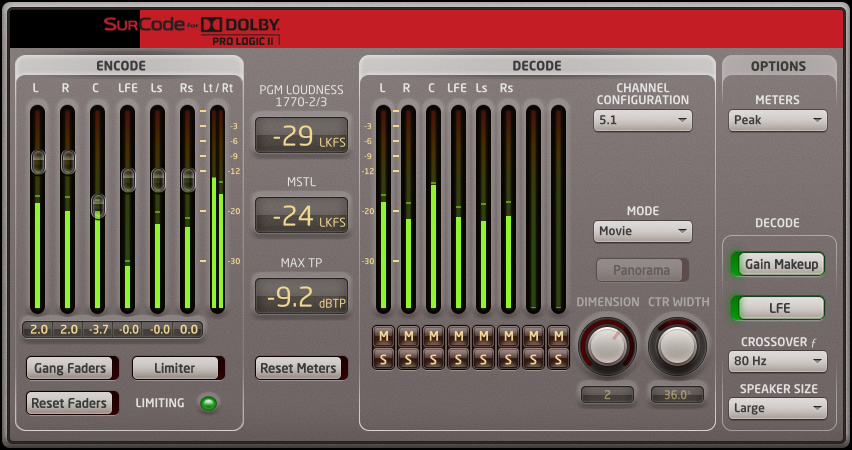 SurCode for Dolby Pro Logic II