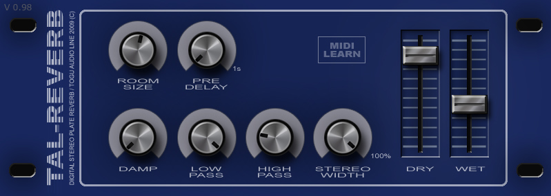 KVR: TAL-Reverb III by Togu Audio Line - Reverb VST Plugin and Audio