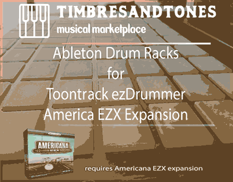 Ableton Drum Racks for ezDrummer Americana EZX