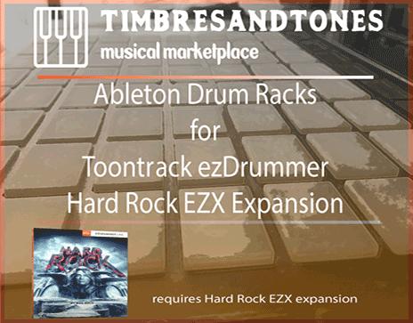 Ableton Drum Racks for ezDrummer Hard Rock EZX