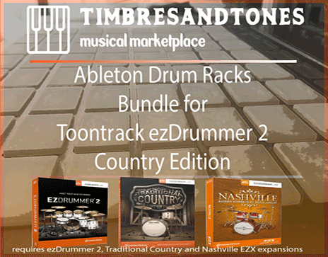 Ableton Drum Racks Bundle for ezDrummer Country Edition