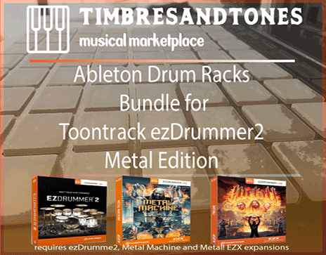 Ableton Drum Racks Bundle for ezDrummer Metal Edition