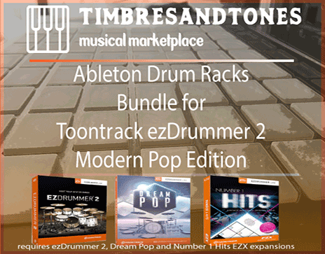 Ableton Drum Racks Bundle for ezDrummer Modern Pop Edition