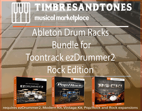 Ableton Drum Racks Bundle for ezDrummer Rock Edition