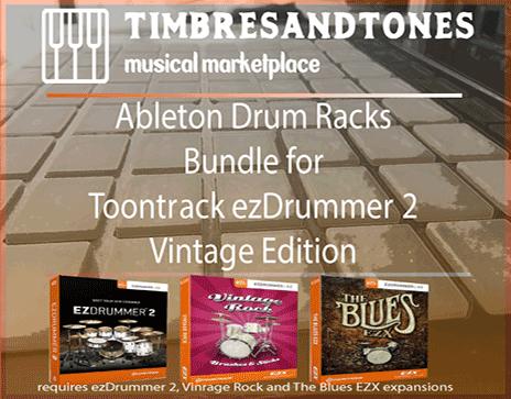 Ableton Drum Racks Bundle for ezDrummer Vintage Edition