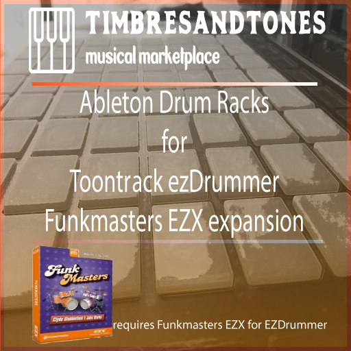 Ableton Drum Racks for ezDrummer Funkmasters EZX
