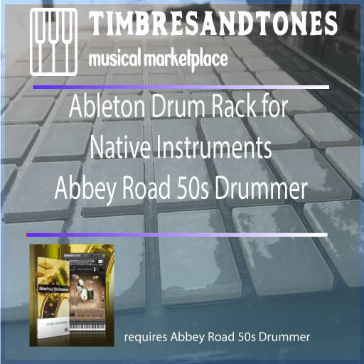 Ableton Push Drum Rack for Native Instruments Abbey Road 50s Drummer