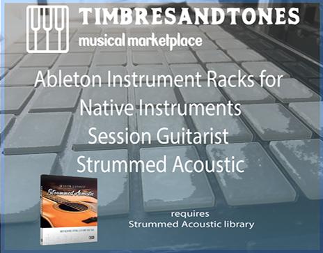 Ableton Instrument Racks for Session Guitarist Strummed Acoustic