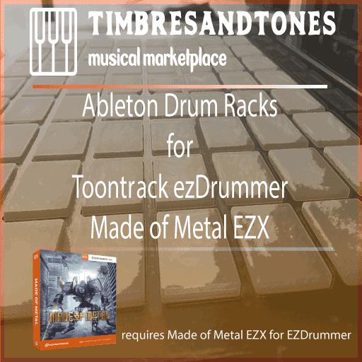 Ableton Drum Racks for ezDrummerMade of MetalEZX