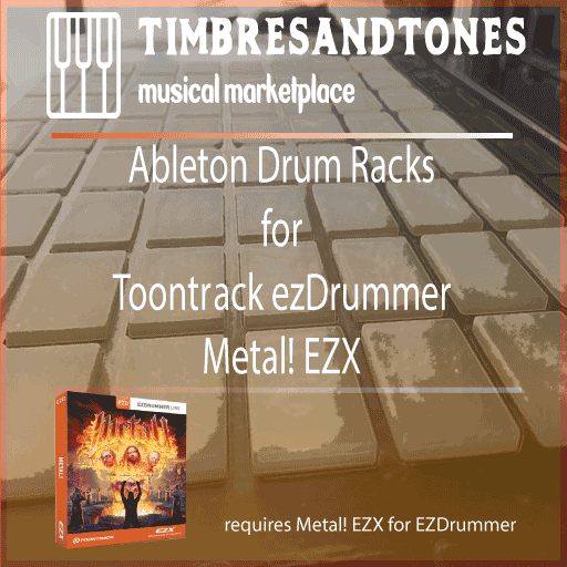 Ableton Drum Racks for ezDrummer Metal! EZX