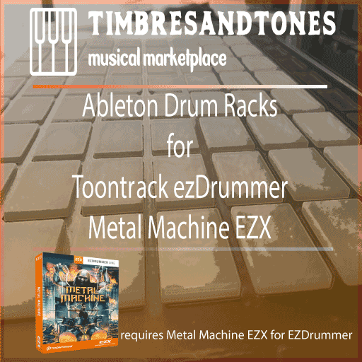 Ableton Drum Racks for ezDrummer Metal Machine EZX