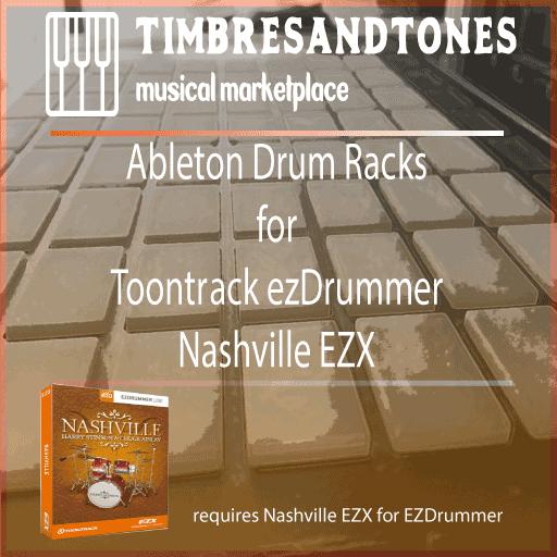 Ableton Drum Racks for ezDrummerNashvilleEZX