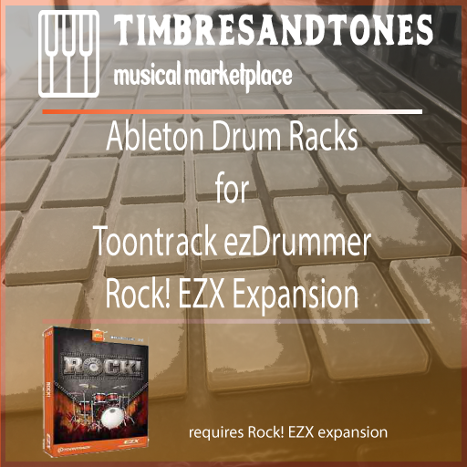 Ableton Drum Racks for ezDrummer Rock! EZX