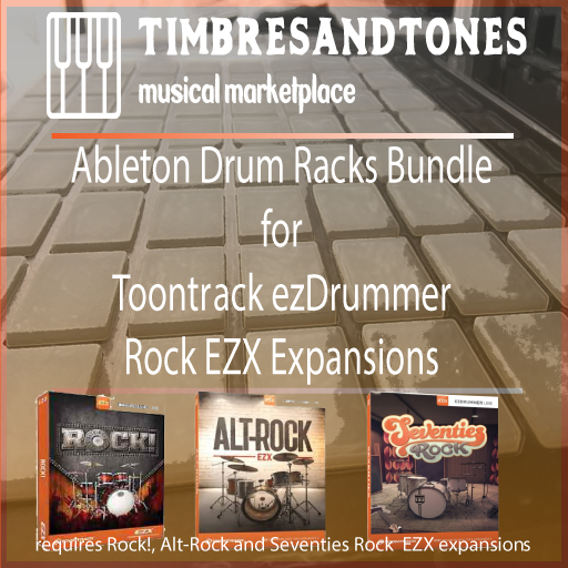 Ableton Drum Racks for Toontrack ezDrummer Rock EZX Bundle – Rock!, Alt-Rock and Seventies Rock