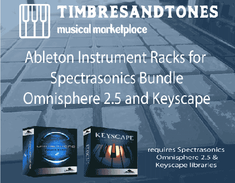 Ableton Instrument Racks Bundle for Omnisphere 2.5 and Keyscape