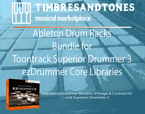 Ableton Drum Racks Bundle for Superior Drummer 3 ezDrummer core libraries