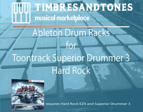 Ableton Drum Racks for Superior Drummer 3 Hard Rock EZX