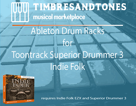 Ableton Drum Racks for Superior Drummer 3 Indie Folk EZX
