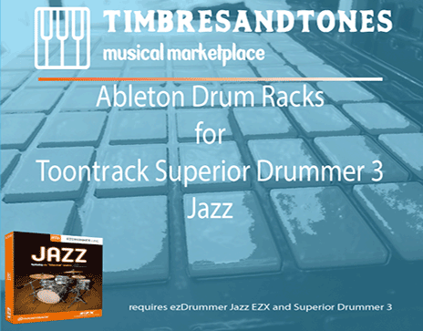 Ableton Drum Racks for Superior Drummer 3 Jazz EZX