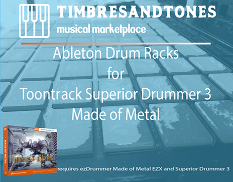 Ableton Drum Racks for Superior Drummer 3 Made of Metal EZX