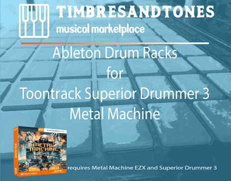 Ableton Drum Racks for Superior Drummer 3 Metal Machine EZX