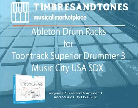 Ableton Drum Racks for Superior Drummer 3 Music City USA