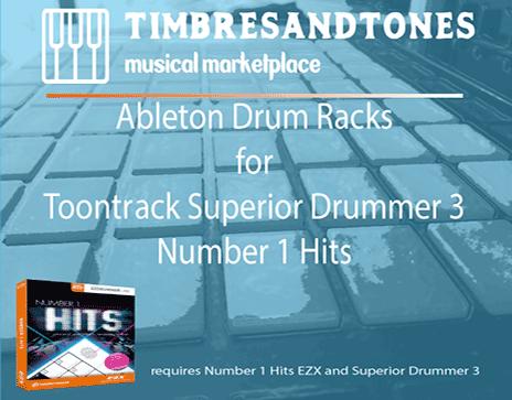 Ableton Drum Racks for Superior Drummer 3 Number 1 Hits EZX
