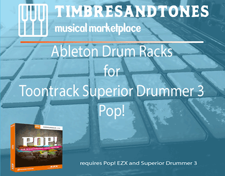 Ableton Drum Racks for Superior Drummer 3 Pop! EZX