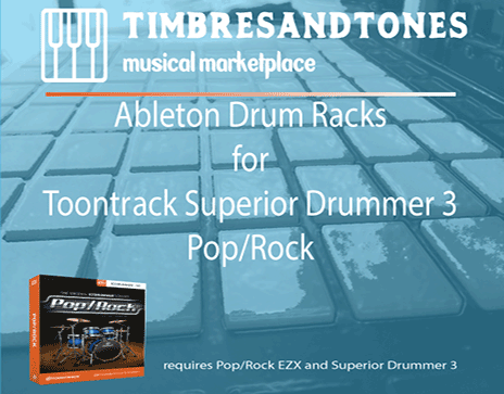 Ableton Drum Racks for Superior Drummer 3 Pop/Rock EZX