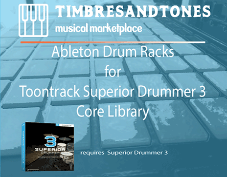 Ableton Drum Racks for Superior Drummer 3 Core Library