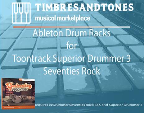 Ableton Drum Racks for Superior Drummer 3 Seventies Rock EZX