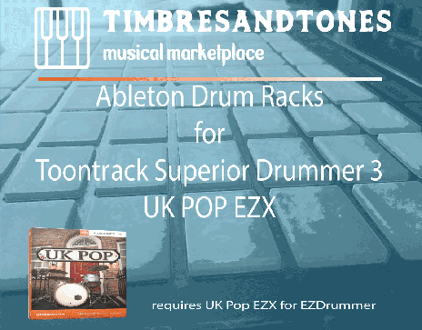 Ableton Drum Racks for Superior Drummer 3 UK Pop EZX